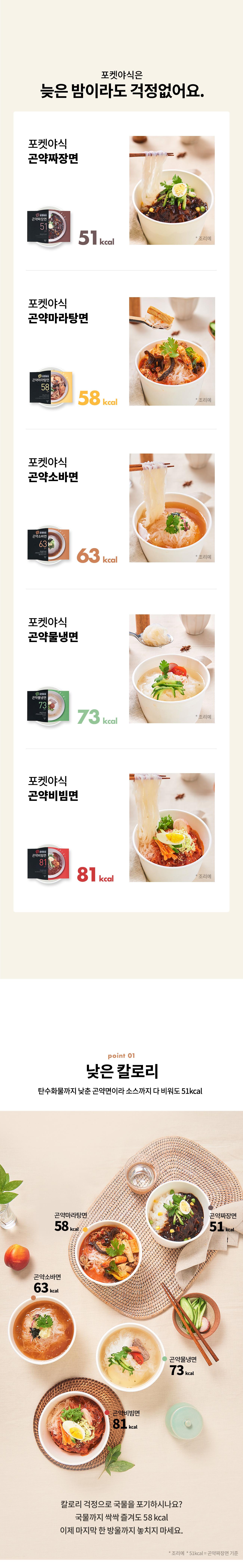 쓰리케어 포켓 야식 곤약면 5종세트 (10일분) - 쓰리케어, 29,900원, 보조식품, 다이어트식품